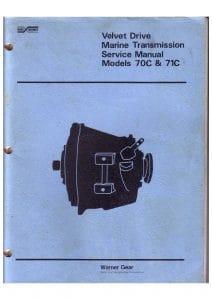Borg Warner Velvet Drive 70c etc marine transmission Service Manual 1979