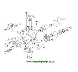 Bosch CP3 diesel Injection Pump Schematic Drawing
