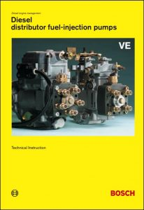 Bosch Distributor VE Diesel Injection Pumps Technical Instruction