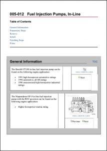 Bosch In-Line diesel Injection Pump Information