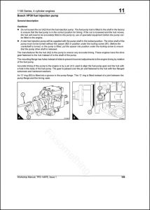 Manuals for BOSCH Diesel Fuel Pumps and Equipment - MARINE