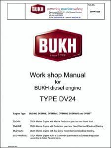 Bukh DV 24 marine diesel engine Workshop Manual