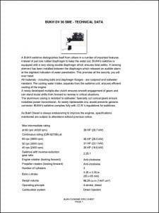 Bukh diesel engine DV 36 SME Specifications