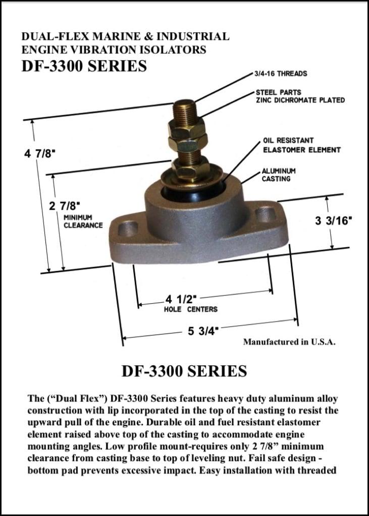 Bushings DF-3300 Series Engine Mounts Brochure