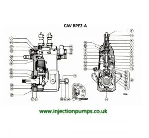 CAV BPE 2A diesel fuel injection Pump Drawing