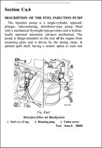 CAV DPA Injection Pump Description