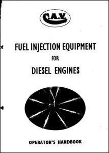 CAV fuel Injection Equipment Guide