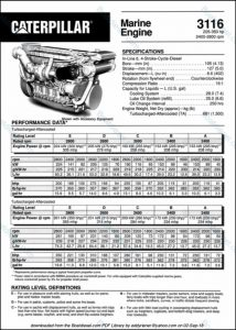 Caterpillar 3116 diesel engine Brochure