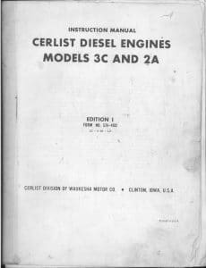 Cerlist 3C & 2A Instruction Manual