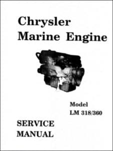 Chrysler LM318 Marine Diesel Engine Service Manual