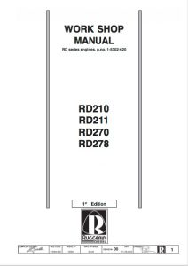 Cover of Ruggerini RD211 Workshop Manual