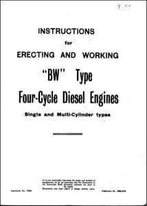 Crossley Diesel Engine BW Type Manual 1938