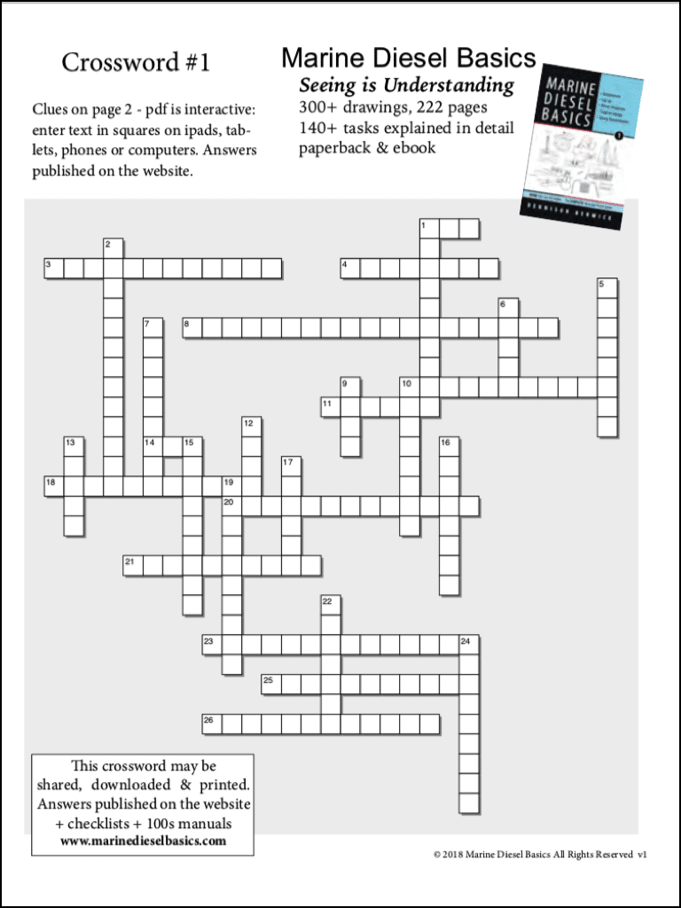 Marine Diesel Basics Crossword#1 May 22