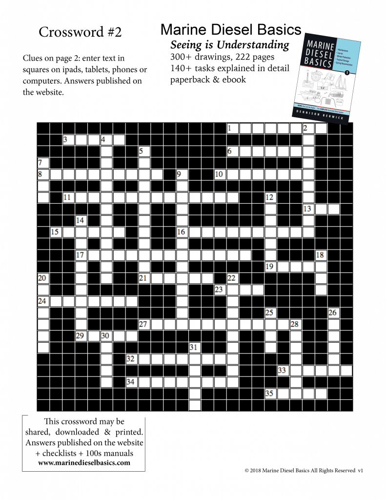 Marine Diesel Basics Crossword#2 June 12