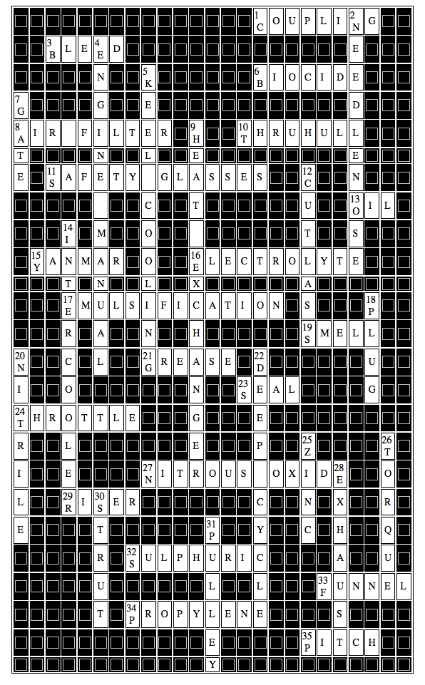 Marine Diesel Basics Crossword#2 June 12 Answers