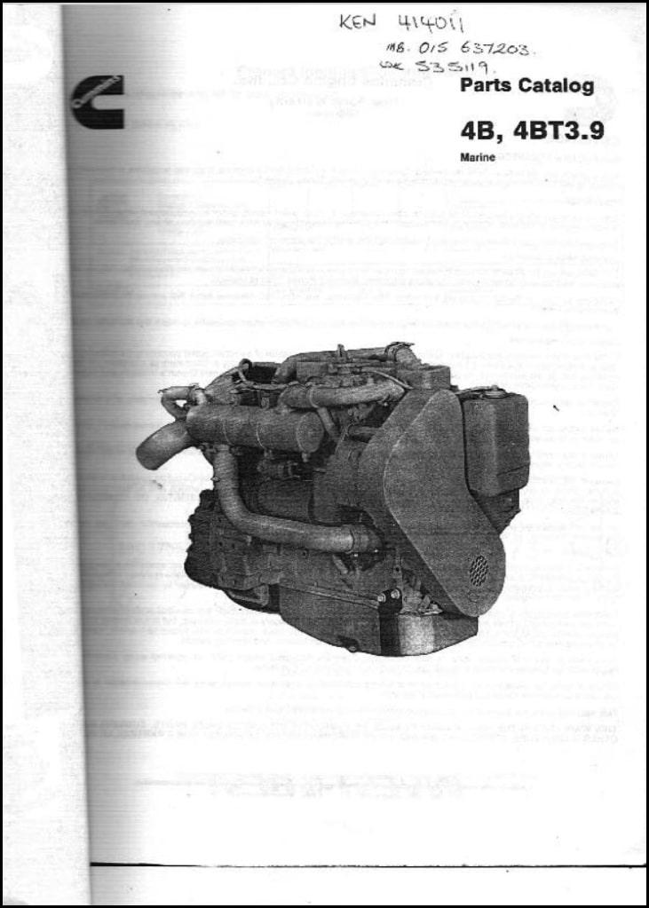 Cummins 4B diesel engine spare Parts Catalog