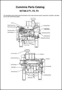 Cummins 6CTA 8.3 F1 diesel engine Parts Catalog