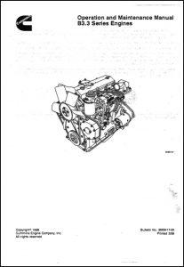 Cummins B3.3 Diesel Engine Operation & Maintenance Manual