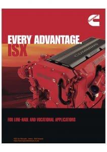Cummins ISX diesel engine Specifications Sheet