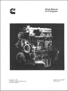 Cummins N14 Diesel Engine Shop Manual