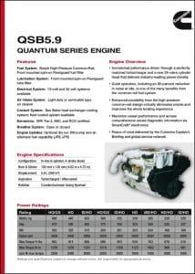 Cummins QSB 5.9 Marine Diesel Engine Technical Sheet