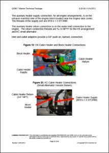 Cummins MerCuisers QSB 6.7 Cabin Heater Ports Information Sheet