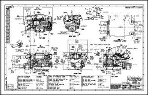 Cummins QSB 6.7 Marine Diesel Engine Drawings