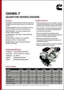 Cummins QSB 6.7 Marine Diesel Engine Technical Sheet