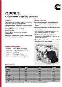 Cummins QSC 8.3 Marine Diesel Engine Brochure