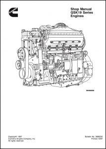 Cummins QSK19 Series engine engine Shop Manual