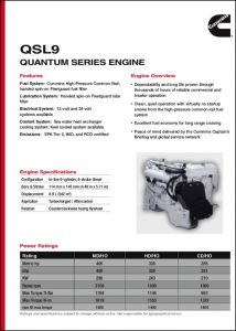 Cummins QSL 9 Mercruiser Marine Diesel Engine Brochure