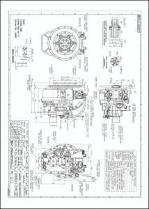 D-I 25AL marine transmission 1.64 Ratio Drawing