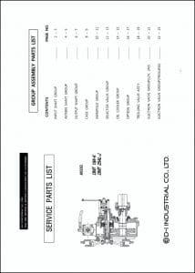 D-I DMT 18A-K marine gearbox Gearbox Service Parts List