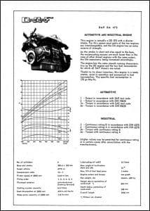 DAF diesel engine DA 475 Brochure