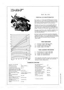 DAF DA dieselmotor informatieblad 475 Dutch