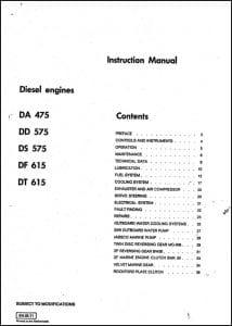 DAF DA 475 diesel engine Instruction