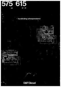 DAF DD 575 marine diesel engine Operating Manual Dutch