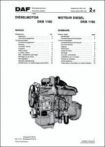DAF DKB 1160 Workshop Manual Dutch French