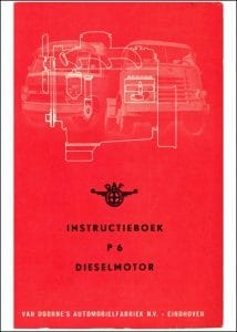 DAF P6 Instatruktie Boek Dutch