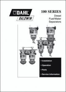 Dahl Baldwin 100 Series Fuel Separator Manual