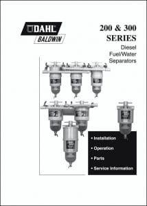 Dahl Baldwin 200 Series Fuel Separator Installation Manual