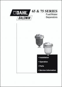Dahl Baldwin 65 Fuel Separator Manual