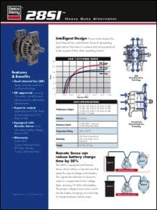Delco 28SI Alternator BrochureDelco 28SI Alternator Brochure