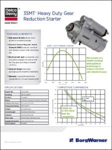 Delco Remy 35MT Engine Starter Brochure