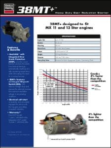 Delco 38MT Engine Starter Technical Brochure