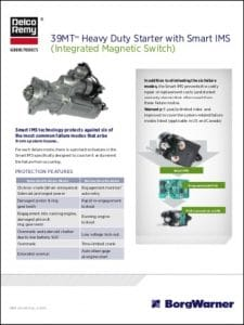 Delco 39MT Engine Starter Integrated Magnetic Switch Technical Brochure