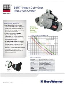 Delco 39MT Engine Starter Technical Brochure
