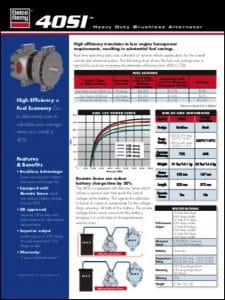Delco 40SI Alternator Technical Brochure