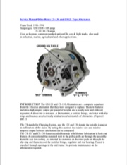 Delco Remy CS-130 Alternator Manual