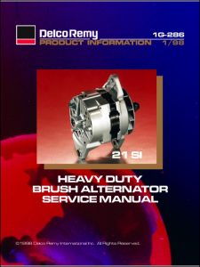 Delco Remy Brush Alternator Service Manual 1998